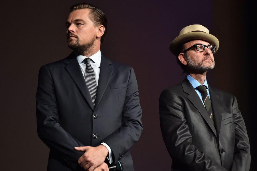 Leonardo DiCaprio et Fisher Stevens présentent «Before the Flood».