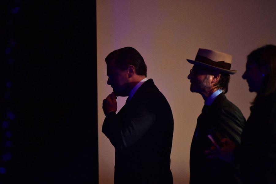 Leonardo DiCaprio, après son discours auThéâtre du Châtelet.