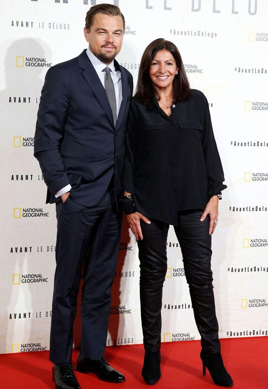 Leonardo DiCaprio et Anne Hidalgo.