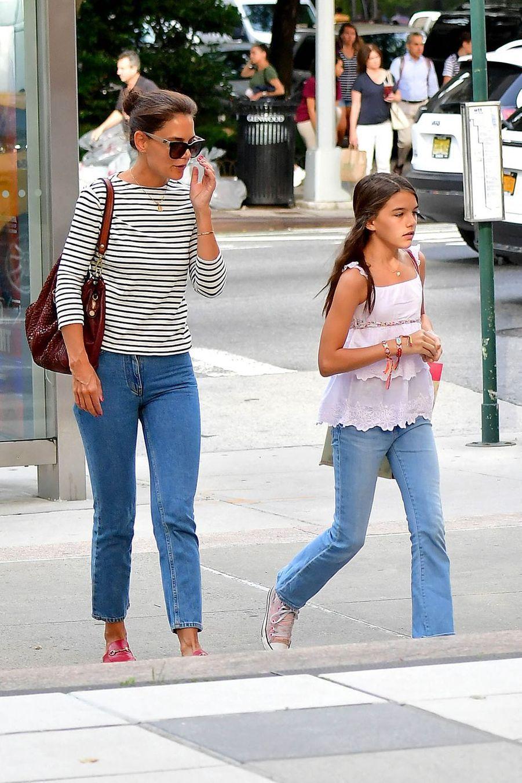 Katie Holmes et sa fille Suri Cruise à New York le 5 août 2019
