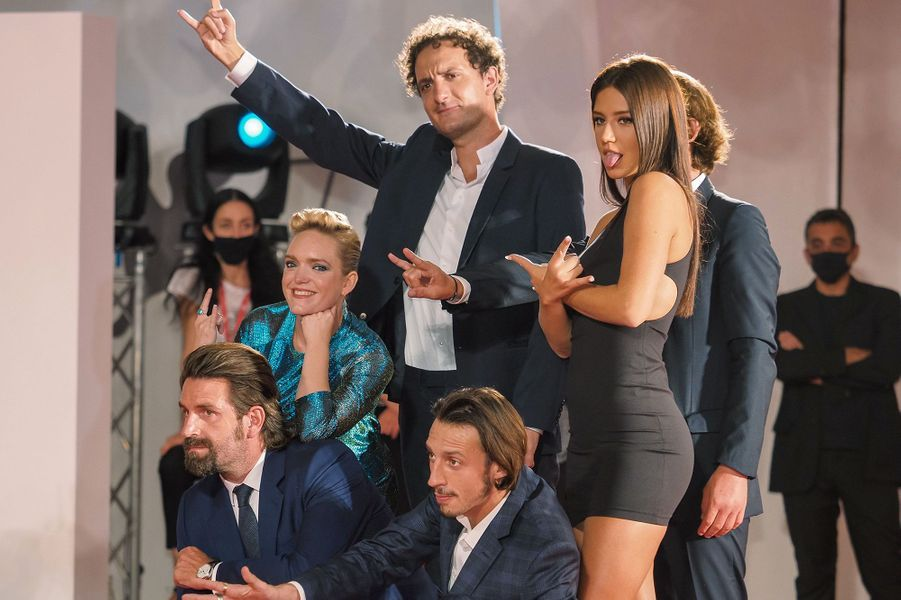 "L'équipe du film ""Mandibules"" à la Mostra de Venise samedi"