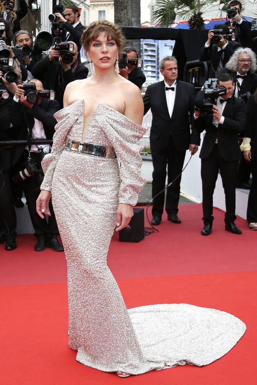 Milla Jovovich à Cannes, le 24 mai 2019