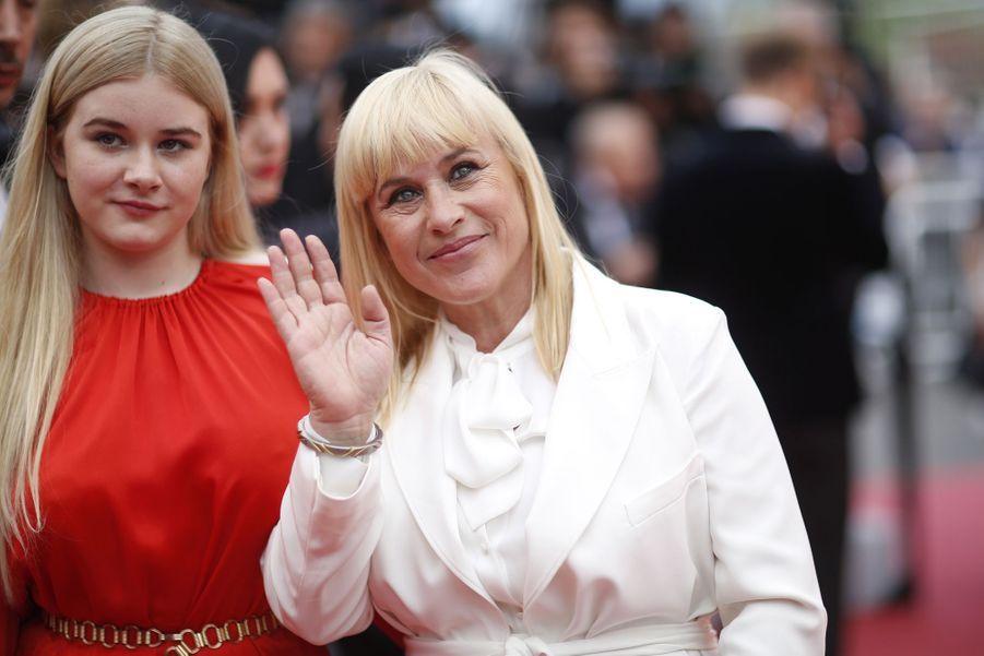 Patricia Arquette et Harlow Olivia Calliope à Cannes, le 24 mai 2019