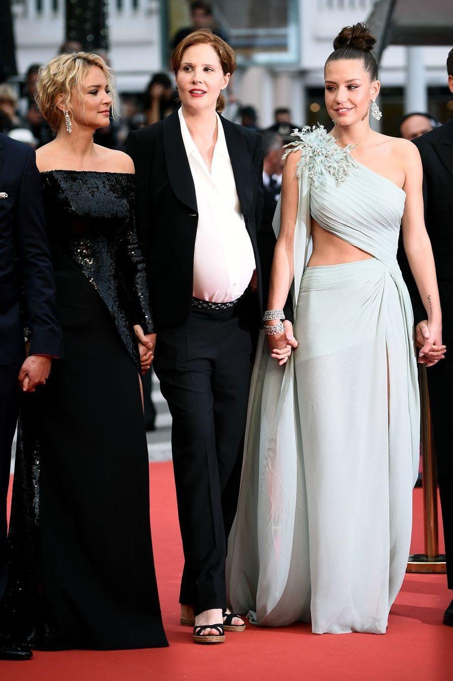 Virginie Efira, Justine Triet et Adele Exarchopoulos à Cannes, le 24 mai 2019