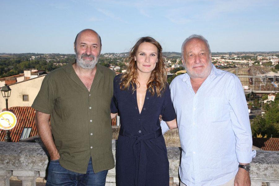"""Cédric Klapisch, Ana Girardot et Francois Berléand pour le film """"Deux moi"""""""