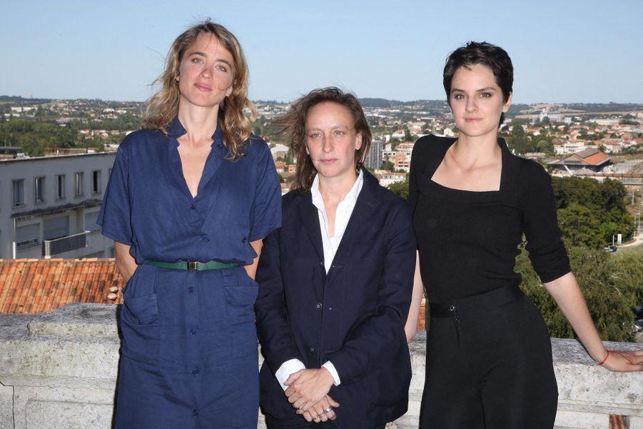 """Adèle Haenel,Céline Sciamma et Noémie Merlant pour le film """"La jeune fille en feu"""""""
