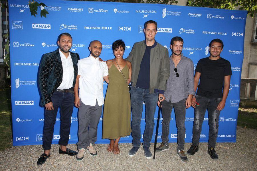 """Liam Pierron, Mehdi Idir, Zita Hanrot, Grand Corps Malade, Soufiane Guerrab et Jean-Rachid pour le film """"La Vie Scolaire"""""""