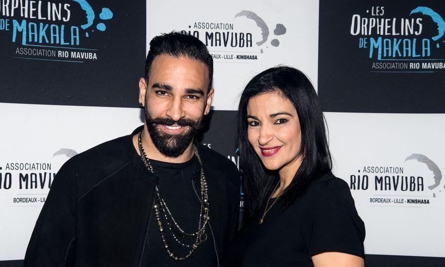Adil et Hafida Rami au concert caritatif «Une nuit à Makala» à Lille le 19 mars 2019