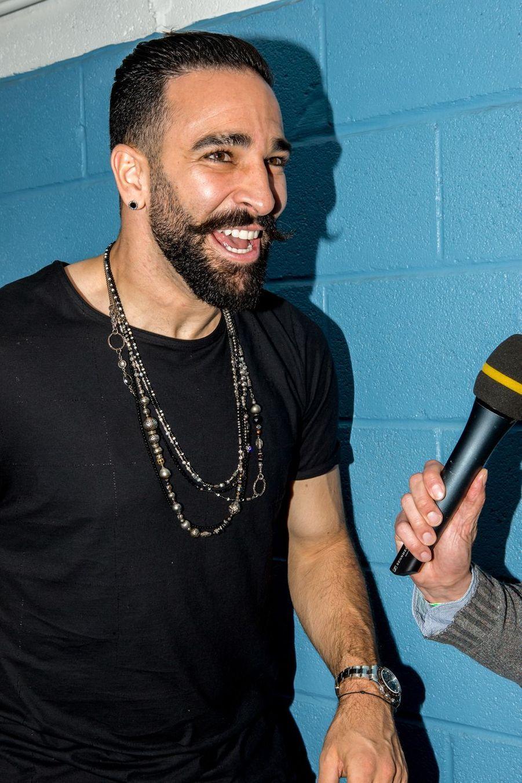 Adil Rami au concert caritatif «Une nuit à Makala» à Lille le 19 mars 2019