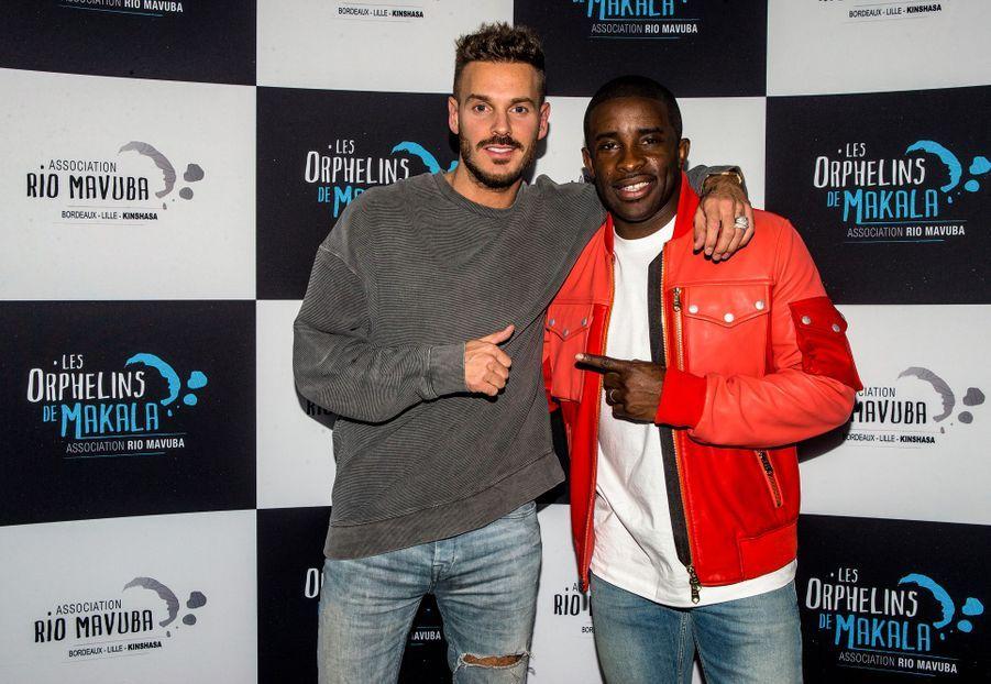 Matt Pokora et Rio Mavuba au concert caritatif «Une nuit à Makala» à Lille le 19 mars 2019