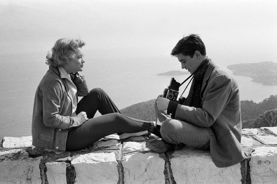 Romy Schneider et Alain Delon lors de leurs vacances sur la Côte d'Azur