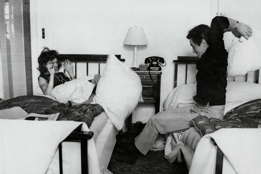 Romy Schneider et Alain Delon en 1959