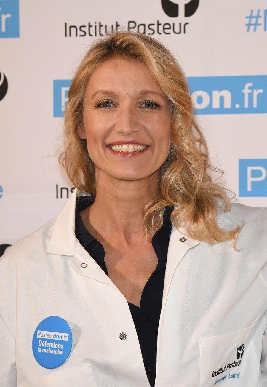Alexandra Lamy lors du lancement de la 13ème édition du Pasteurdon à Paris le mercredi 9 octobre 2019.