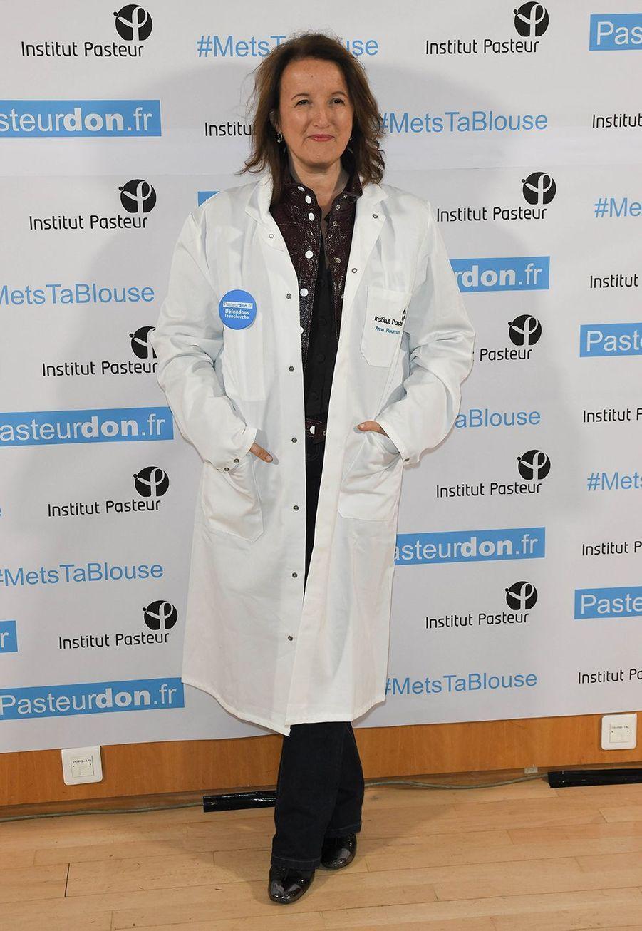 Anne Roumanoff lors du lancement de la 13ème édition du Pasteurdon à Paris le mercredi 9 octobre 2019.