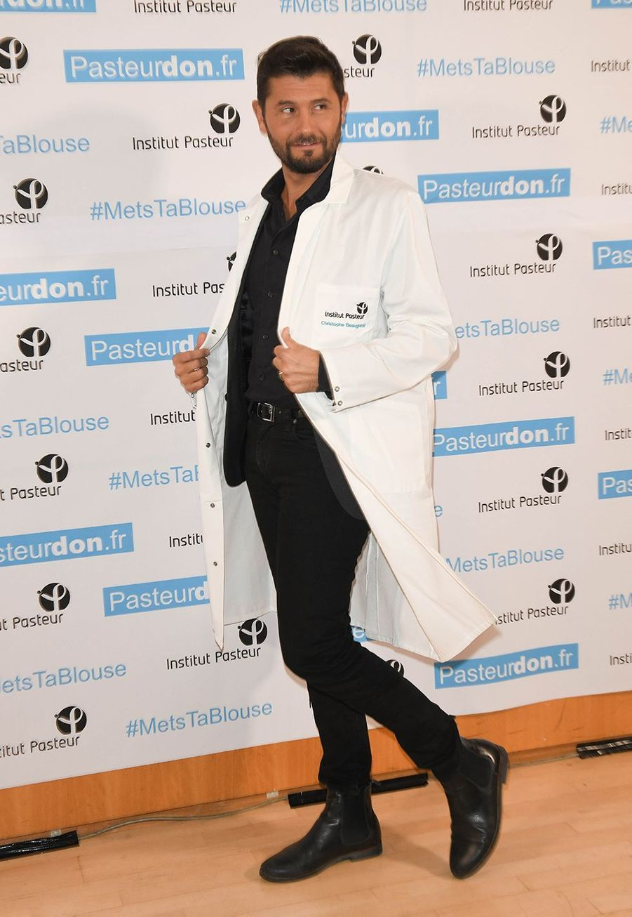 Christophe Beaugrand lors du lancement de la 13ème édition du Pasteurdon à Paris le mercredi 9 octobre 2019.