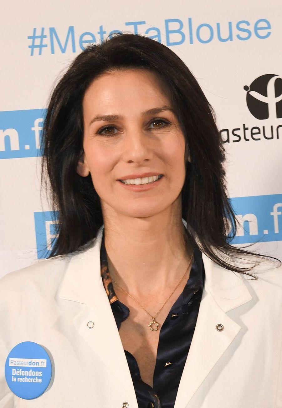 Marie Drucker lors du lancement de la 13ème édition du Pasteurdon à Paris le mercredi 9 octobre 2019.