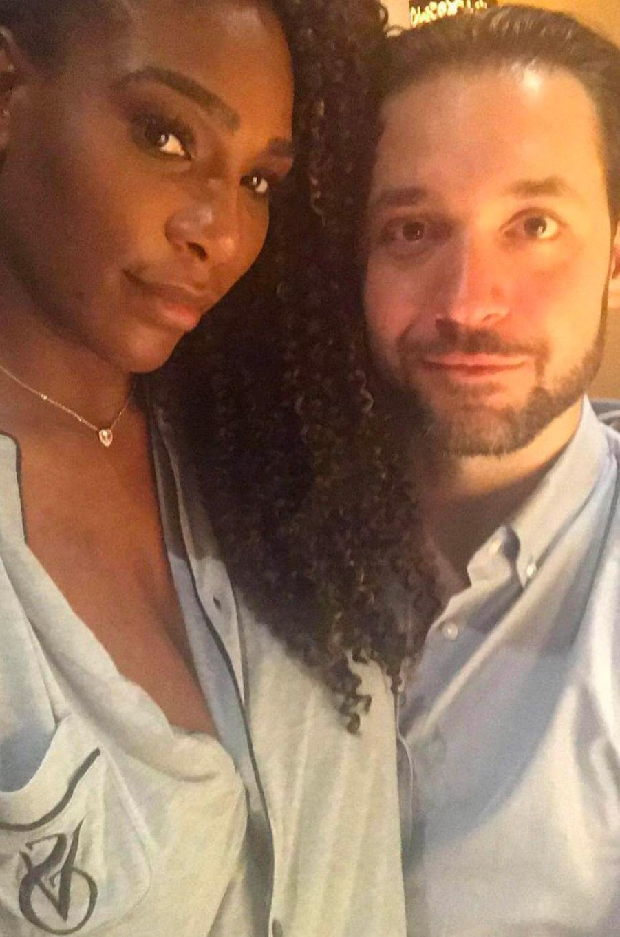 Alexis Ohanian et Serena Williams en septembre 2017