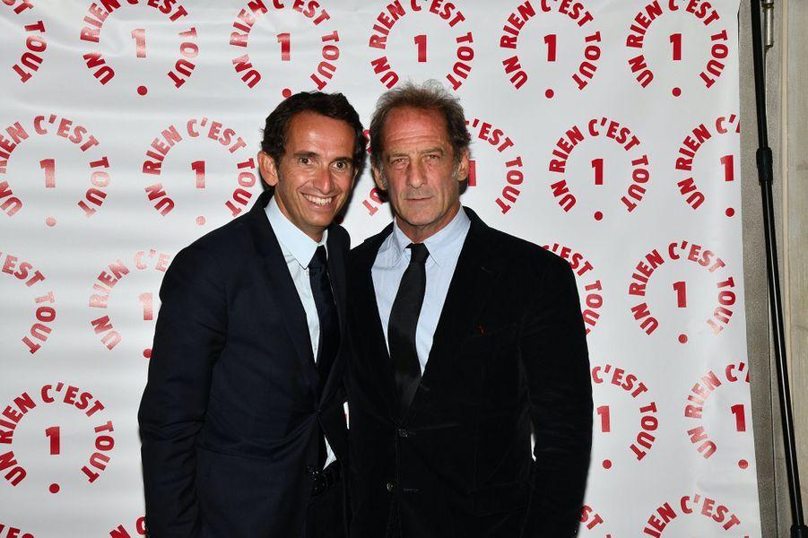 Alexandre Bompard et Vincent Lindonau dîner caritatif donné en faveur des actions de l'association Un Rien C'est Tout au musée Rodin à Paris le 19 septembre 2019