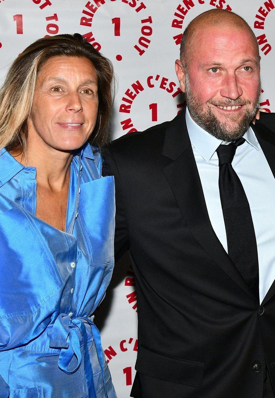 François Damiens et sa compagne Gaëlleau dîner caritatif donné en faveur des actions de l'association Un Rien C'est Tout au musée Rodin à Paris le 19 septembre 2019