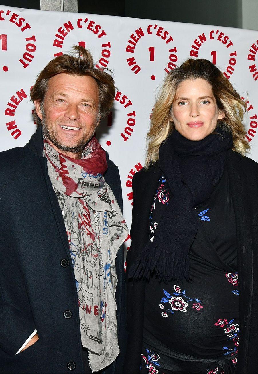 Laurent Delahousse et Alice Taglioniau dîner caritatif donné en faveur des actions de l'association Un Rien C'est Tout au musée Rodin à Paris le 19 septembre 2019