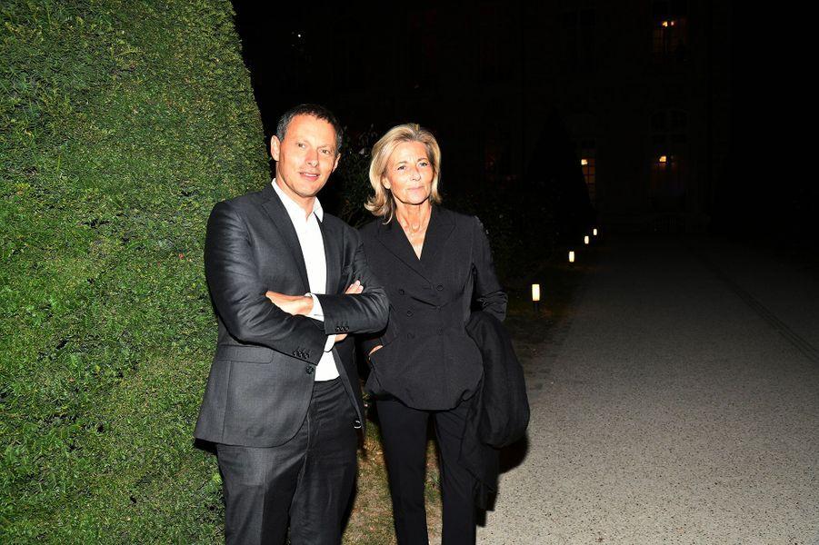 Marc-Olivier Fogiel et Claire Chazalau dîner caritatif donné en faveur des actions de l'association Un Rien C'est Tout au musée Rodin à Paris le 19 septembre 2019
