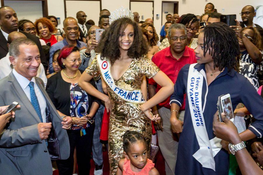 Alicia Aylies a été élue Miss Guyane en 2016