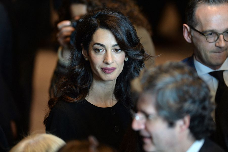 Amal Clooney au siège des Nations unies à New York le 23 avril 2019