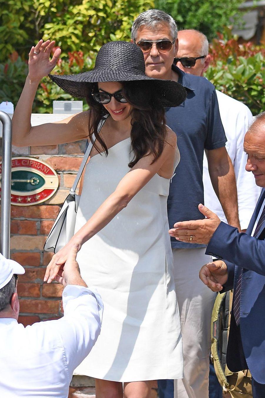Amal et George Clooney à Venise le 27 juin 2019