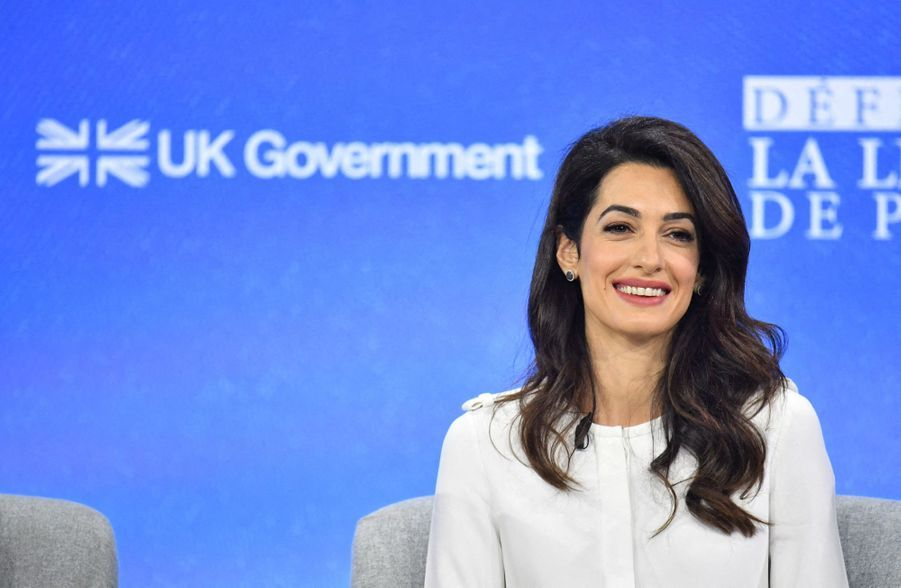 Amal Clooney de la seconde journée de la «Global Conference for Media Freedom» à Londres le 11 juillet 2019