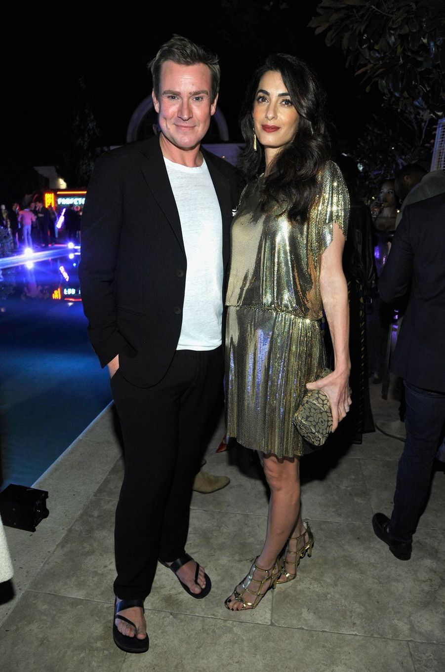 William Banks-Blaney et Amal Clooney à Los Angeles, le 5 octobre 2017.
