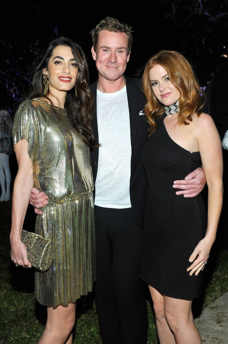 Amal Clooney, William Banks-Blaney et Isla Fisher à Los Angeles, le 5 octobre 2017.
