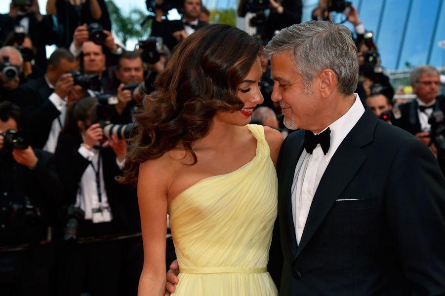 George et Amal Clooney à Cannes.