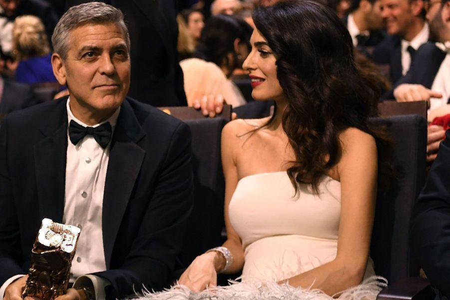 George et Amal Clooney aux Césars à Paris