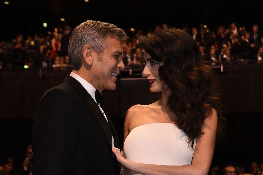 George et Amal Clooney à Paris en février 2017.