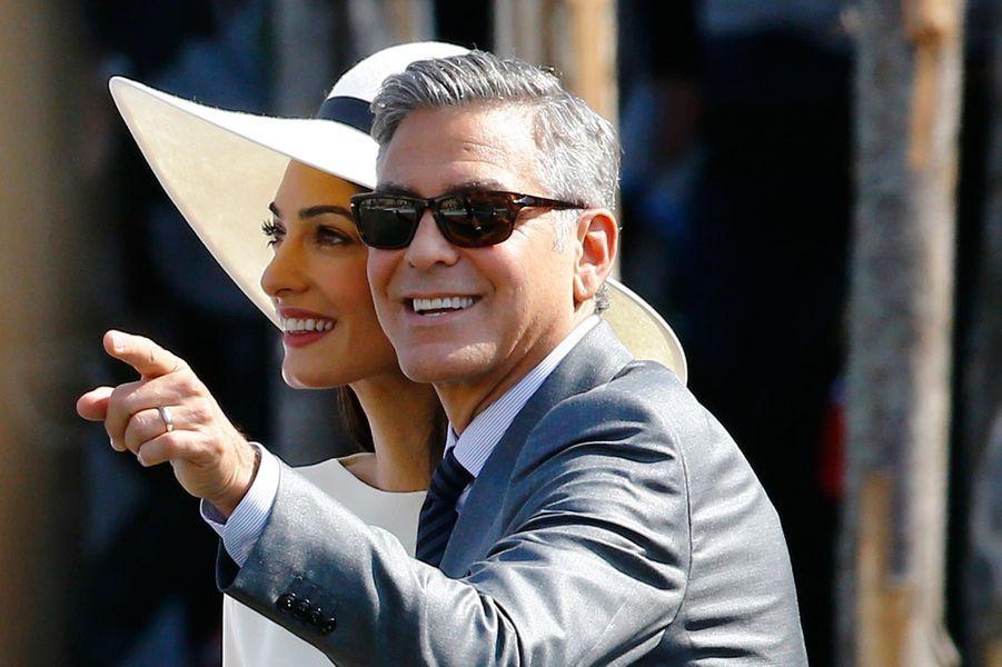 Le mariage civil de George et Amal Clooney en septembre 2014.