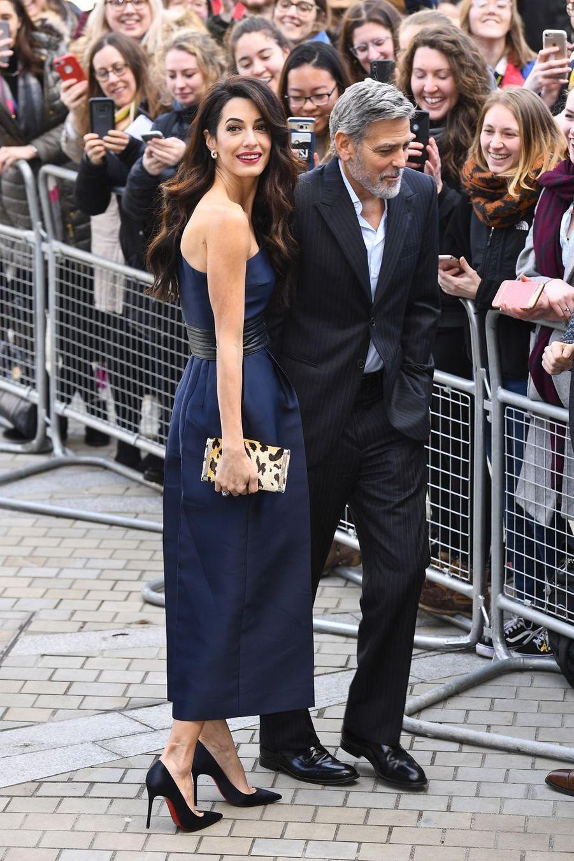 George et Amal Clooney au galaPeople's Postcode Lottery Charity àÉdimbourg le 14 mars 2019