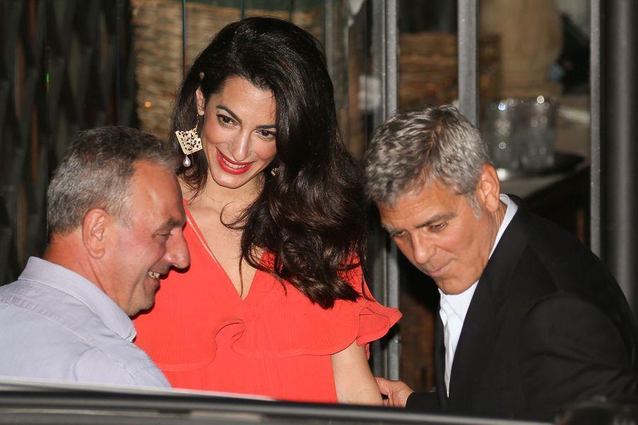 Amal et George Clooney àCernobbio (Italie) le 20 juin 2019