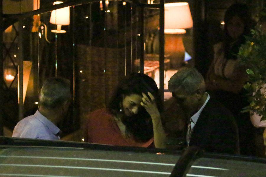 Amal et George ClooneyàCernobbio (Italie) le 20 juin 2019