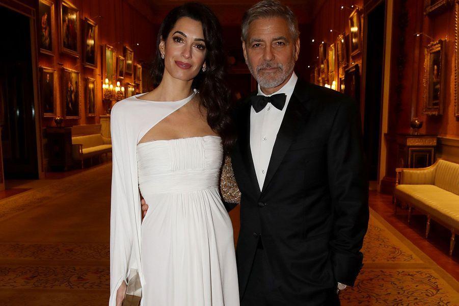 GeorgeetAmal Clooney au dîner du prince Charles au palais de Buckingham
