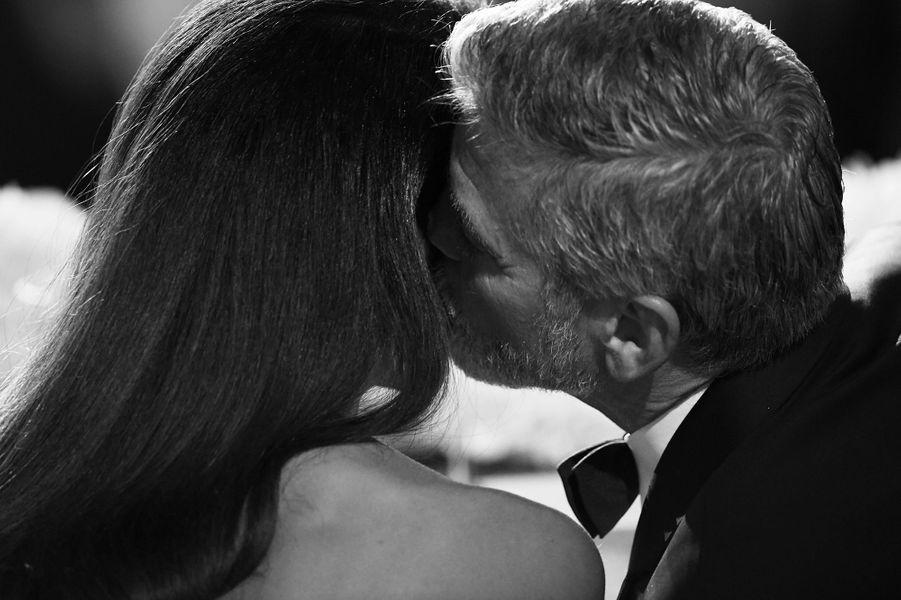 Amal et George Clooney lors d'une soirée chapeautée par le American Film Institute (AFI) pour honorer la carrière de l'acteurà Los Angeles en juin 2018