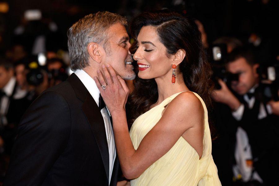 Amal et George Clooney à la première du film «Money Monster» au Festival de Cannes en mai 2016