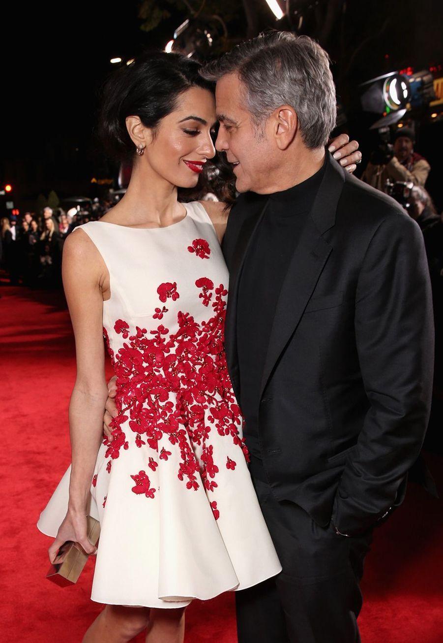Amal et George Clooney à la première du film «Hail, Caesar !» à Westwood en février 2016