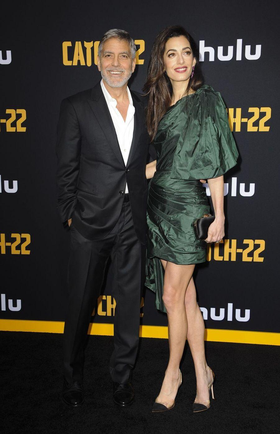 George et Amal Clooney à la première de «Catch-22» à Los Angeles le 7 mai 2019