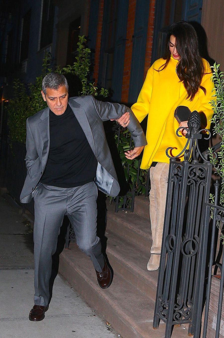 Amal et George Clooney à Soho, New York, vendredi 6 avril