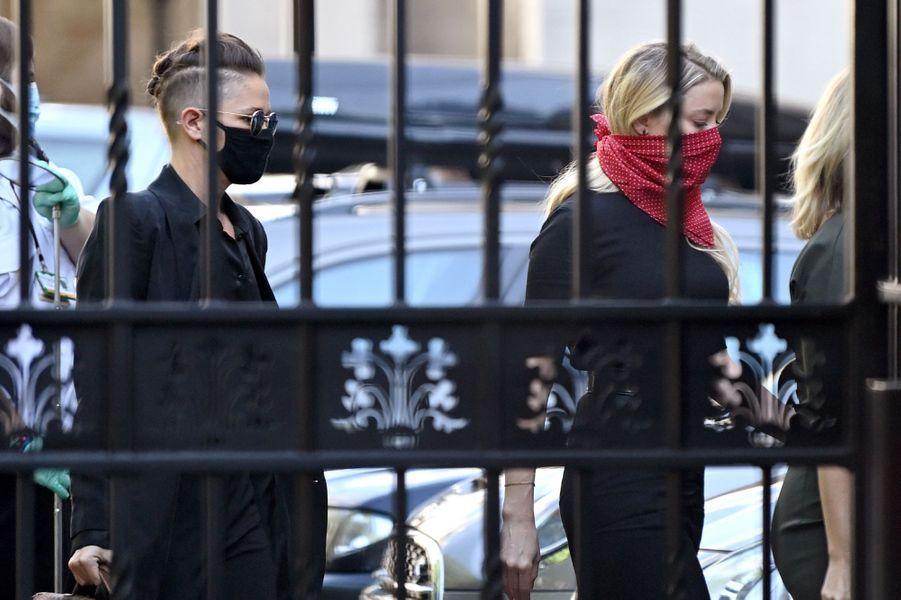 Amber Heard et Bianca Butti à Londres le 7 juillet 2020.