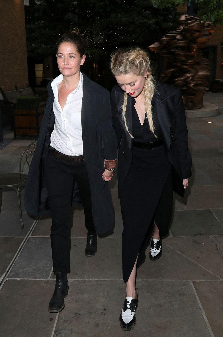 Bianca Butti et Amber Heard à Londres le 15 juillet 2020