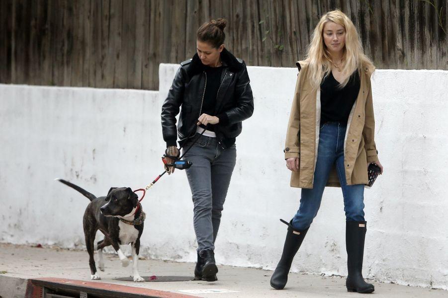 Amber Heard et Bianca Butti à Los Angeles le 20 mars 2020