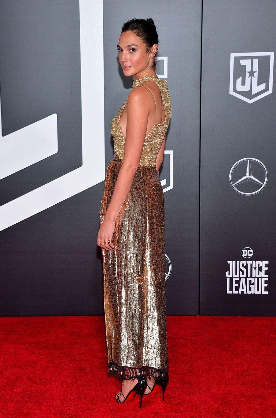"""Gal Gadot à l'avant-première de """"Justice League"""" à Los Angeles"""