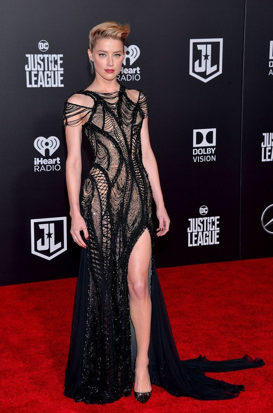 """Amber Heard à l'avant-première de """"Justice League"""" à Los Angeles"""