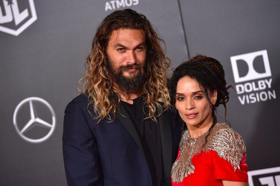 """Jason Momoa et Lisa Bonet à l'avant-première de """"Justice League"""" à Los Angeles"""